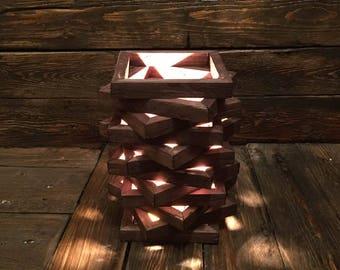wood lamp. minimalist lamp. interior design. handmade. modern home decor.munique. art.