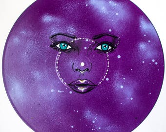 Unique Handpainted Space Vinyl - Can be Personalised or Custom Made - Free Worldwide Shipping