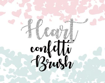 Heart Confetti - Photoshop CC Brush Pennelli Photoshop