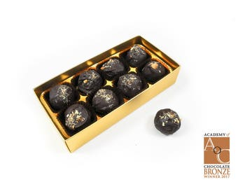 8 vegan award winning peanut butter truffle chocolates