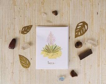 Yucca Greeting Card