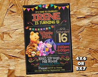 Winnie the Pooh Invitation,Winnie the Pooh Birthday Invitation,Winnie the Pooh,Girl Invitation,Winnie the Pooh Birthday Invite SL