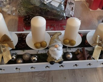 modern and original advent wreath