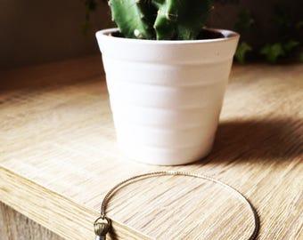 Cactus hammered Bangle