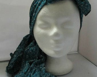 Headband Turban headband Headhand stretchy scarf teal bow