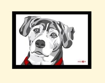 Unique Gift, Pet Portrait, Gift, Digital Print, Animal Print, Pet Art, Dog Art, Cat Art, Dog Print, Artwork, Digital Art