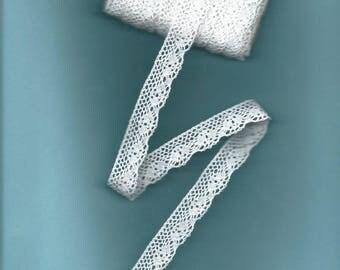 18mm white cotton lace Ribbon