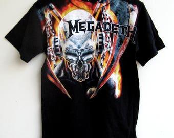 Megadeth Vic Rattlehead Print T-Shirt
