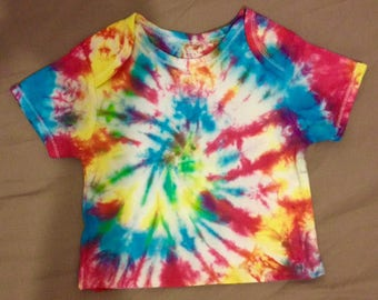 Baby tie dyed T-shirt.