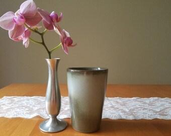 Frankoma, woodland moss, tumbler vase