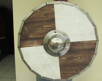 hand crafted metal rimmed viking targe/shield