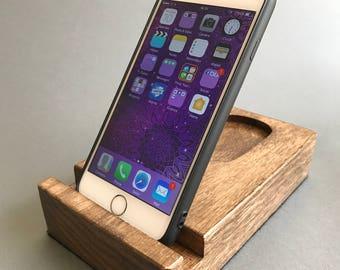 Solid Oak Wooden Smart Phone / Tablet Holder