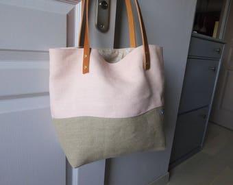 Bag 100% handmade creation unique worn genuine leather hand or shoulder handles