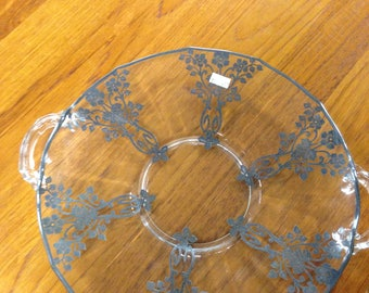 Antique Glass and Silver Bowl
