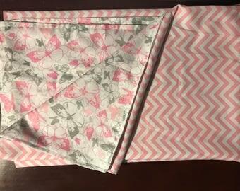 Baby/Toddler blanket- pink butterflies