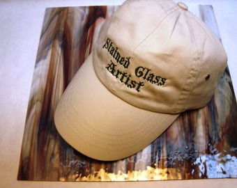 WHEAT Stained Glass Artist CAP W/ Green Embroidery