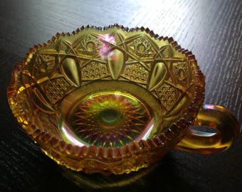 Golden Carnival Glass Cup