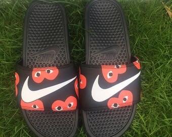 Nike Comme Des Garcons Sliders