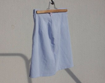 High blue and white Plaid skirt