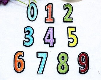 letter or Number Patch Iron on Sew on patch appliqueNO.13