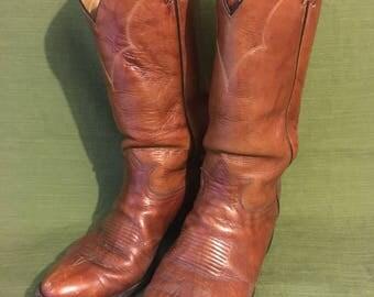 Vintage 1960s Tony Lama Cowboy Boots