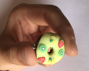 Creation in Fimo donut with fruit