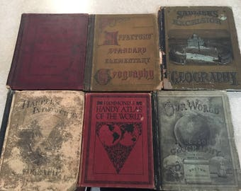 Vintage Geography Books 1882-1927