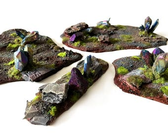 Dioramas for wargaming, suitable for Warhammer Fantasy Battles and 40k, spring terrain bundle for your table
