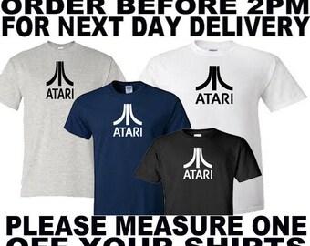 atari gamer 80s retro t shirt all sizes upto 5xl free first class postage uk