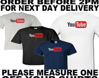 you tube t shirt all sizes upto 5xl free first class postage uk