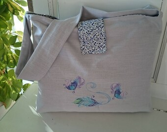"""Field of flowers"" carpet bag or beach bag"