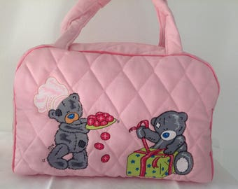 Toiletry bag or purse Tote embroidered children (0002ours)