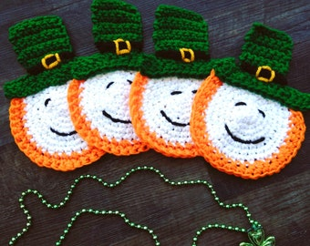 Set of four St. Patty's Day coasters