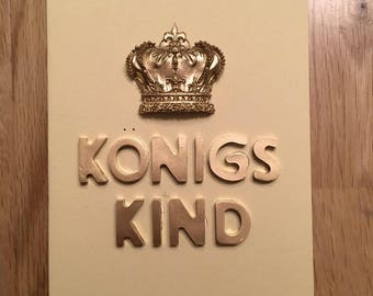 "Beautiful ""King's Child"" cast greeting cards 3d DIY"