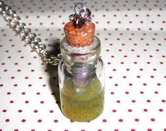 Necklace vial bottle (bottle necklace)