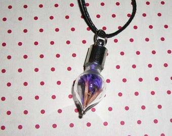 Necklace drop dried sea Lavender