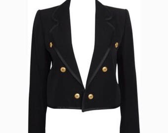 Vintage Saint Laurent Crop Blazer 34