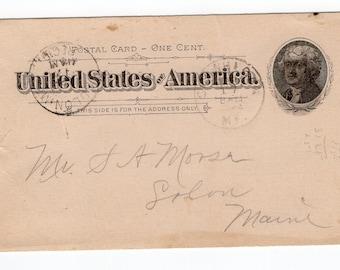 Vintage 1890s 1 Cent Postal Card