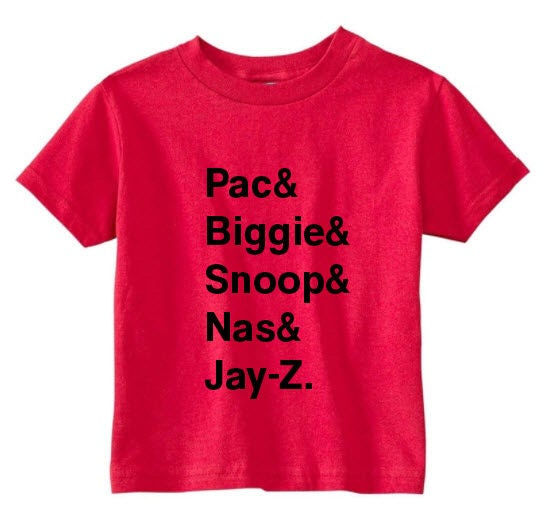 Toddler hip hop tee hip hop t shirt tupac shirt biggie for Just hip hop t shirt