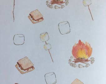 Smores Clipart Stickers (D89)