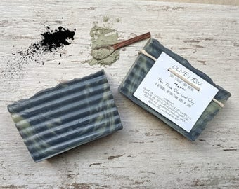 Charcoal Soap Tea Tree Soap Tea Tree Oil Clay Soap Sea Clay Homemade Handmade All Natural Cold Processed Soap Bar Essential Oil Face Soap
