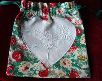 shoulder bag, pouch, embroidered hands 23/23 shabby lingerie cmsl