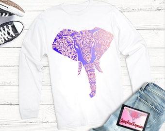 Graceful Elephant Triangle T-Shirt, Triangle Elephant T-Shirt, Elephant Clothing, Triangle Elephant Women Clothing , Women's T-Shirt
