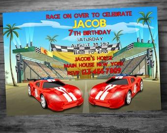 Hot wheels invitation card