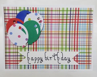 Happy Birthday Card with Balloons