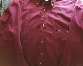 Avalon Collection Long Sleeve Button Shirt