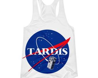 TARDIS NASA Fandom Women's Racerback Tank