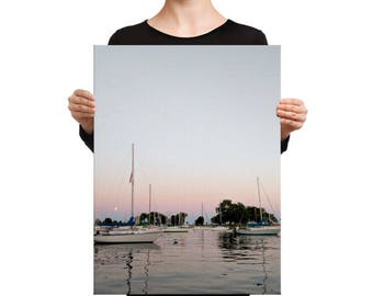 The Sunset Boats Canvas Print