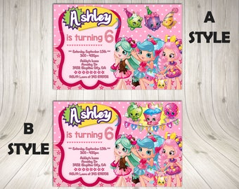 Shopkins Bingo Etsy - Blank shopkins birthday invitations