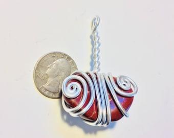 Red jasper wire wrap, red jasper pendant, jasper necklace, jasper jewelry, wire wrapped jasper stone pendant, wire wrapped jewelry